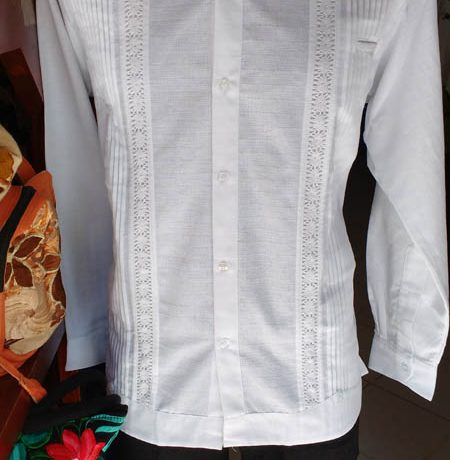 GUAYABERA LINO ML BLANCO